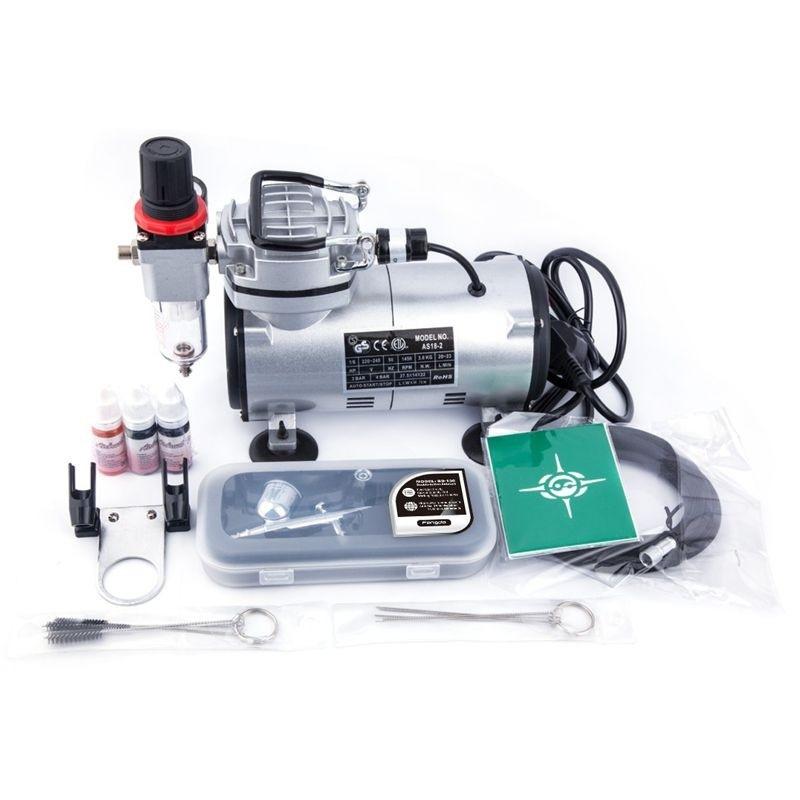 new photos official shop 100% high quality Kit aérographe avec compresseur AS18 - 2K de FENGDA