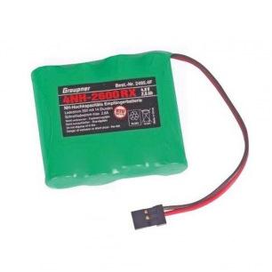 Pack d'accus NiMh 4.8 V 2600 mAh pour réception - Graupner