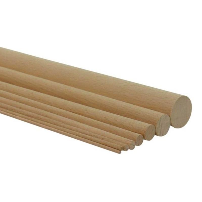 Baguettes rondes en h tre l 1m plusieurs diam tre - Baguette bois ronde ...