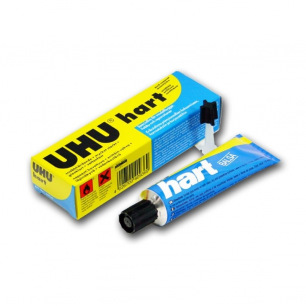 Colle transparente UHU HART - Tubes de 35 ou 125 gr