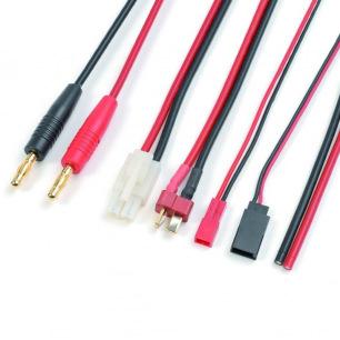 Cordon de Charge avec Connecteurs BEC + FUTABA RX + TAMIYA + DEANS