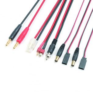 Cordon de Charge avec Connecteur JR TX + FUTABA TX + TAMIYA + DEANS