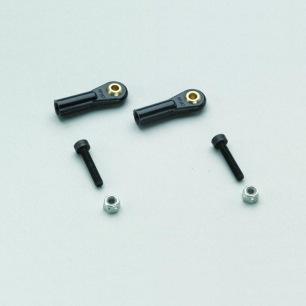 Chapes à rotules filetées M3 avec vis et écrou - Courte ou Longue