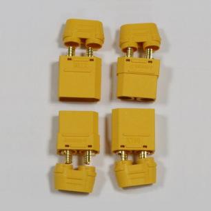 Connecteurs dorés XT90 - mâle + femelle