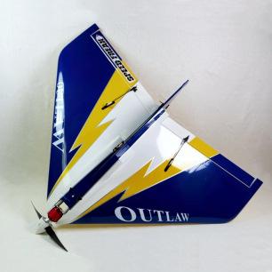 """Aile volante OUTLAW 36"""" V2 Electrique ARF Bleue d'Extreme Flight"""