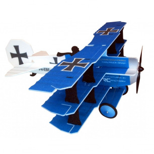 Avion indoor CRACK Fokker de RC Factory - Env. 89cm - Rouge ou Bleu