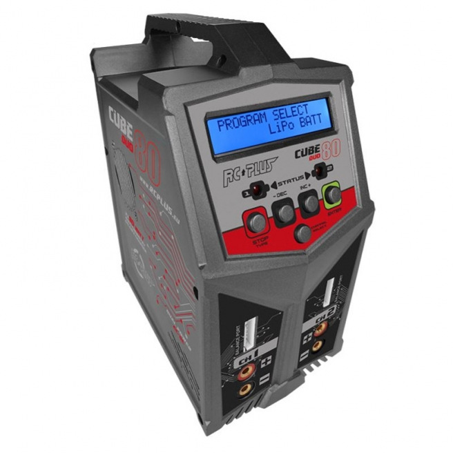 Chargeur RC Plus Cube 80 Duo AC/DC 12/220V -2x80W