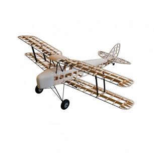 Avion Tiger Moth kit en bois tout à construire - Env. 1.4m