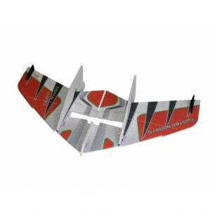 Ailes volantes indoor CRACK WING de RC Factory - Env: 75cm - Rouge ou Bleue