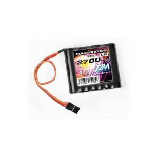 Pack d'accus NiMh 4.8 V 2700mAh pour réception ou émission - T2M