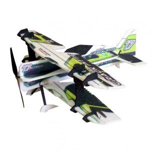 Avion indoor Crack Pitts Mini vert de RC Factory