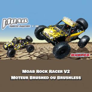 Voiture Buggy du desert MOAB Rock Racer V2 RTR 1/10 de MHDPRO - Moteur Brushed ou Brushless