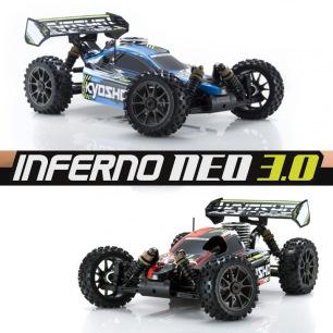 Buggy Inferno Neo 3.0 Readyset de Kyosho - Bleu / Rouge