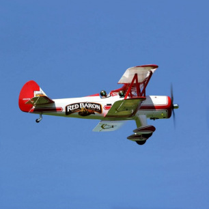 Avion Biplan Stearman Red Baron 20cc Seagull - Env: 1816mm