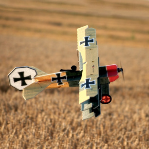 Avion indoor Lil Fokker de RC Factory - Env: 68cm - Couleur Yellow green