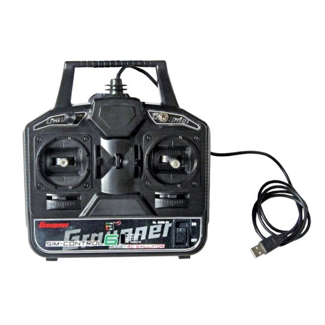 Radio Graupner SIM-Control 6 pour simulateur de vol