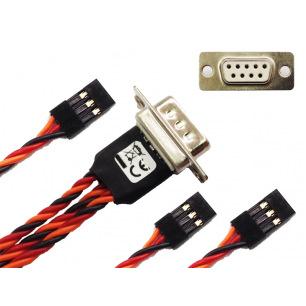 Connections d'aile DSUB pour 3 servos - ALEWINGS
