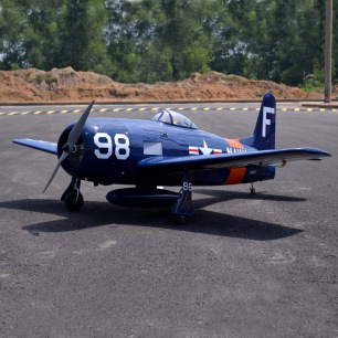 Avion F8F-2 Bearcat Navy Blue ARF Seagull Models - Env: 180cm