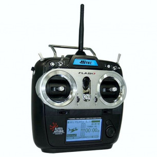Radio Hitec Flash 7 avec 2 récepteurs Minima 6