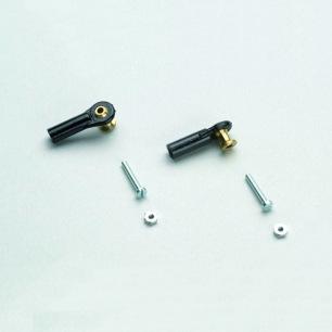 Chapes à rotules filetées M2 et M2.5 - Courtes, moyennes et longues
