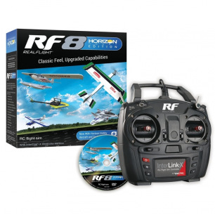 Simulateur de vol RealFlight RF8 Horizon Hobby Edition avec radio câblée