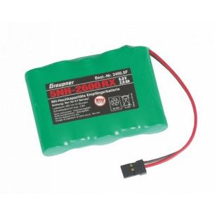 Pack d'accus NiMh 6.0 V 2600mAh pour récepteur - Graupner