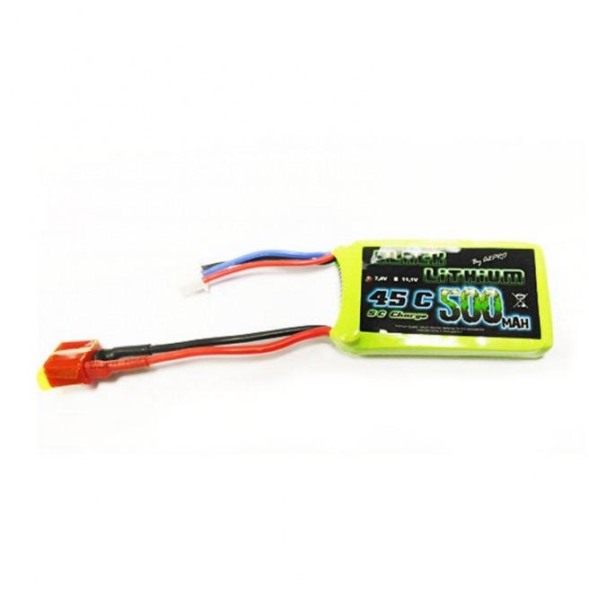 Batteries LiPo 2S 45C - 350 et 500mAh - Black Lithium