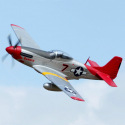Avion Mustang P51 rouge PNP Kit de FMS - Env: 170cm