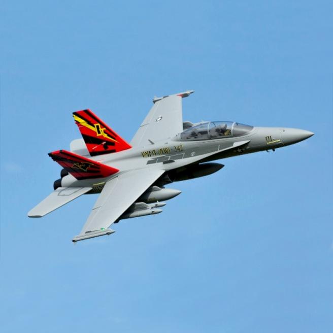 Jet F-18 80mm EDF BNF Basic avec AS3X de E-Flite