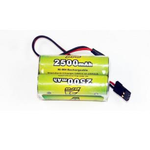 Pack d'accus NiMh 4.8 V 2500 mAh pour réception - A2Pro