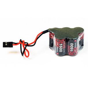 Pack d'accus NiMh 6.0 V 1600mAh pour récepteur