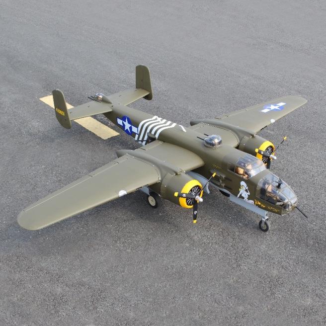 Avion B-25 Mitchell avec train rentrant de Seagull