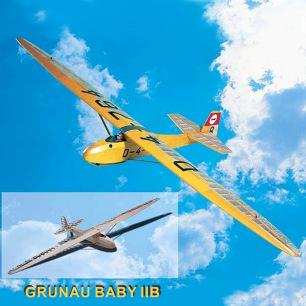 Planeur en Kit Grunau Baby IIB échelle 1/6 et 1/4 de Krick