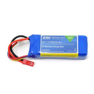 Batterie LiPo 800mAh 3S 11.1V 30C de E-Flite