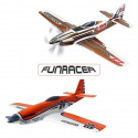 Avions FunRacer RR de Multiplex - Orange, Bronze, Blanc