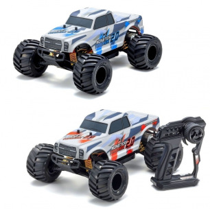 Voiture RC Monster Tracker 1:10 EP Readyset bleu de Kyosho