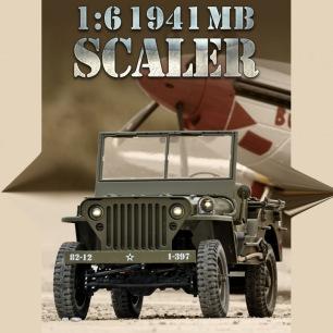 Jeep Willis 1941 1/6 MB Scaler ARTF kit de RocHobby