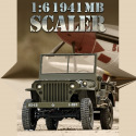 Jeep Willis 1941 1/6 MB Scaler ARTF kit de RocHobby