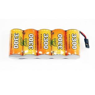 Pack d'accus NiMh 6.0 V 3300mAh pour récepteur - A2Pro
