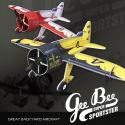 Avion Indoor Gee Bee de RC Factory - Rouge/Blanc et Noir/Jaune