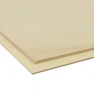 Planches de contre-plaqué de peuplier - épaisseur : 3, 4 et 5mm