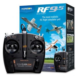 Simulateur de vol RealFlight RF9.5 avec contrôleur Spektrum