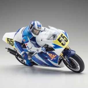 Moto Hanging on Racer Suzuki RGV 1992 kit de Kyosho