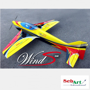 Avion Wind S 50E ARF rouge et bleu de Sebart - Env.: 158cm