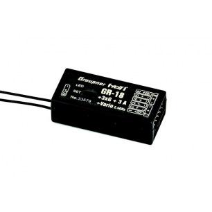 Récepteur Graupner 9 voies GR-18+3xG+3A+Vario HoTT 2.4Ghz