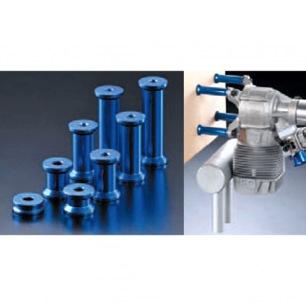 Plots de fixation moteur thermique - Long. 38, 44.5 ou 51mm - Vis M5