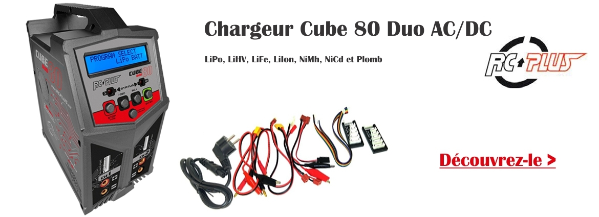Chargeur RC Plus Cube 80 Duo