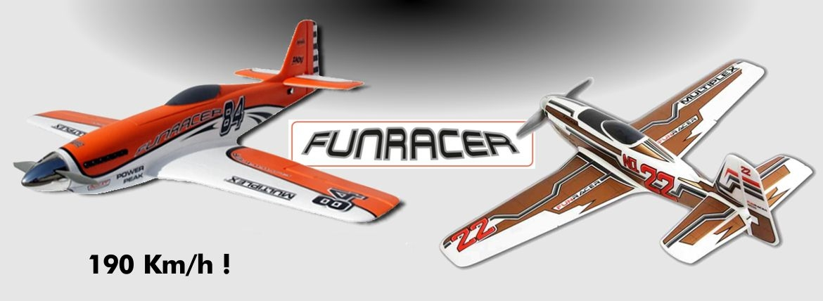 Multiplex FunRacer RR Orange, Bronze, Blanc